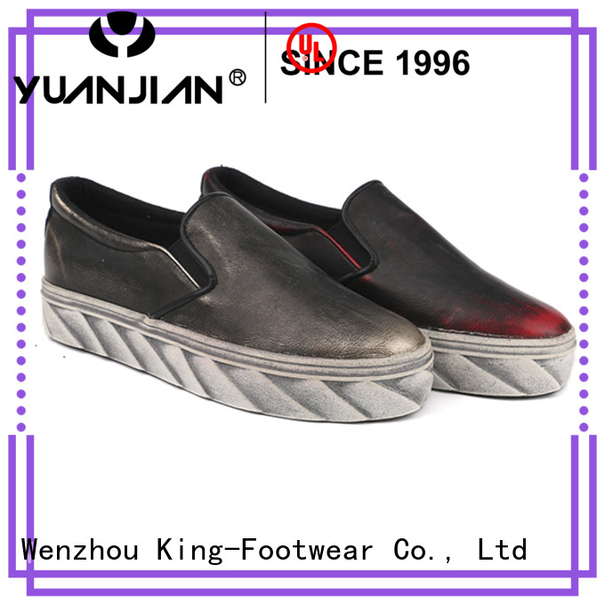 King-Footwear hot sell vulcanized sneakers design for traveling