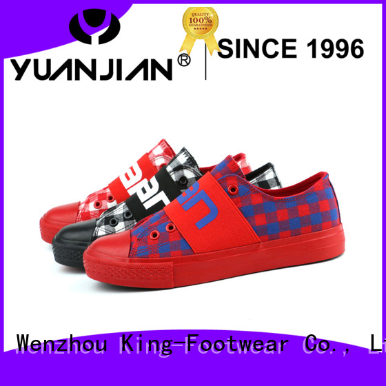 King-Footwear beautiful comfortable canvas shoes factory price for travel
