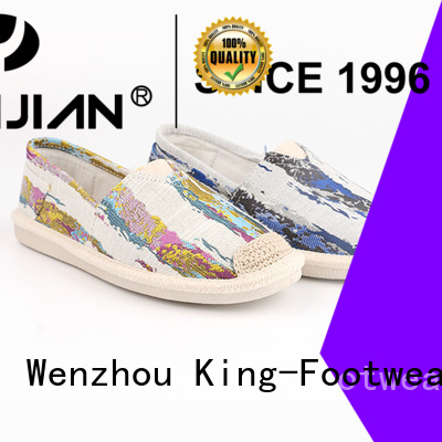 King-Footwear durable blank canvas shoes promotion for travel
