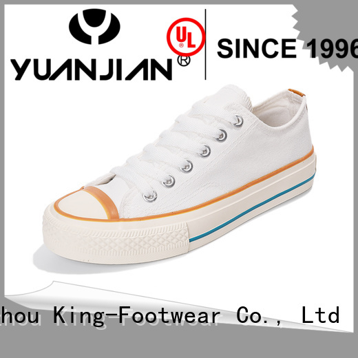 King-Footwear hot sell ladies canvas shoes promotion for travel