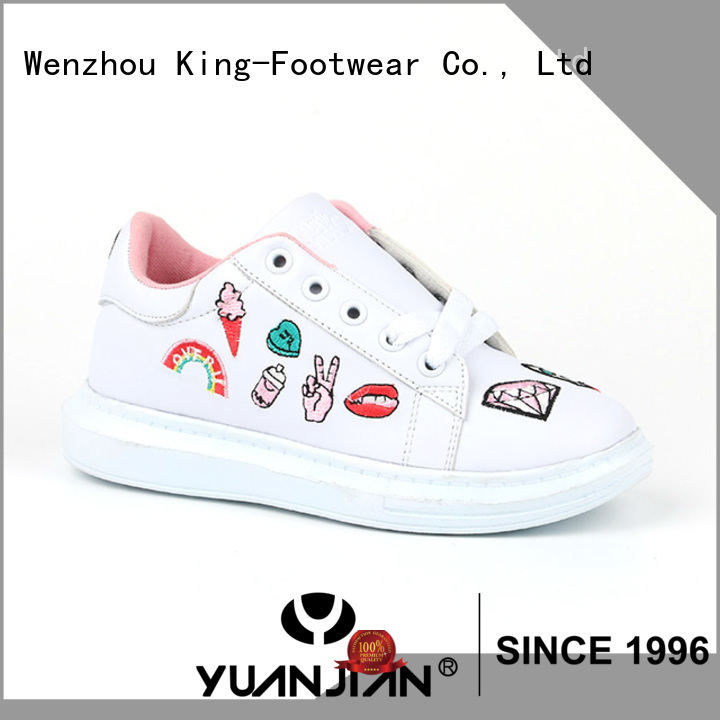 King-Footwear comfortable black canvas sneakers on sale for children