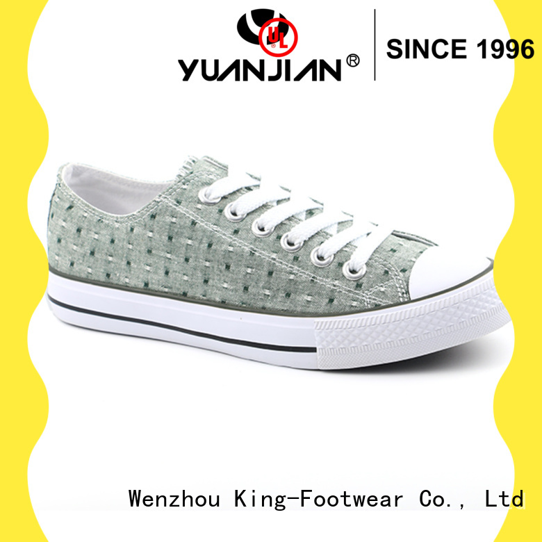 King-Footwear durable mens canvas sneakers factory price for travel