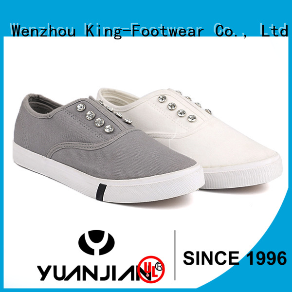 King-Footwear canvas shoes for girls promotion for school