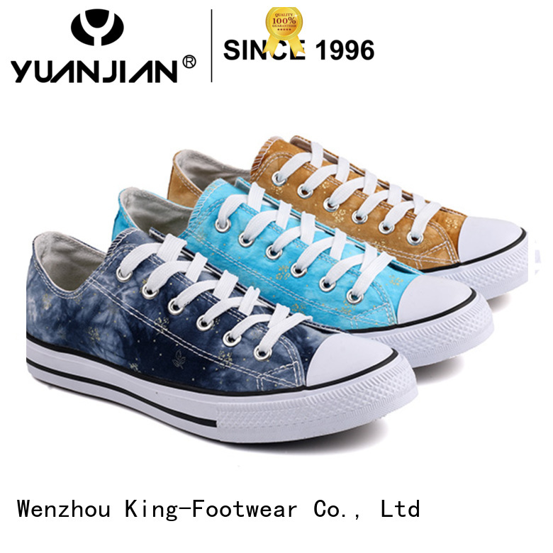 King-Footwear good quality denim canvas shoes manufacturer for school