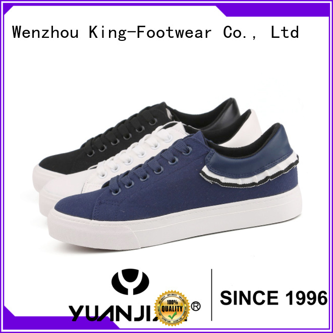 King-Footwear good quality blank canvas shoes promotion for daily life