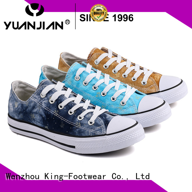 hot sell womens canvas trainers promotion for working