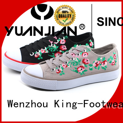 King-Footwear beautiful canvas shoes for girls promotion for travel