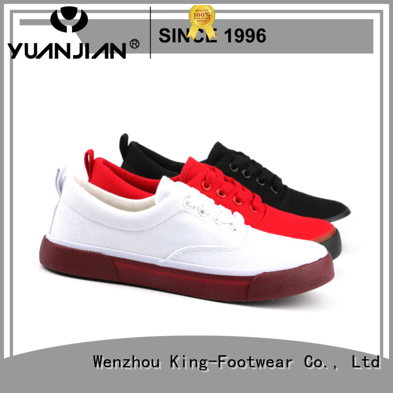 King-Footwear beautiful mens canvas sneakers manufacturer for daily life