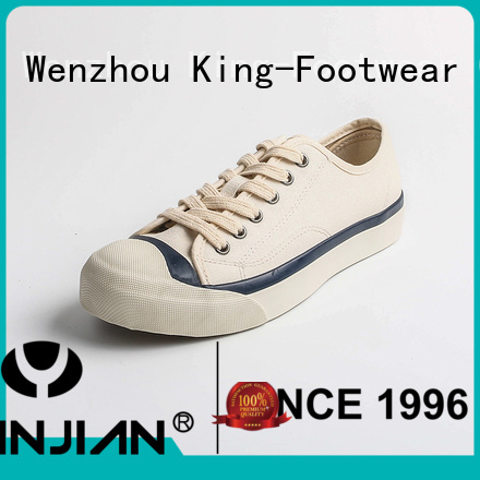 King-Footwear womens canvas trainers promotion for travel