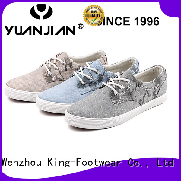 King-Footwear beautiful black canvas shoes mens manufacturer for daily life