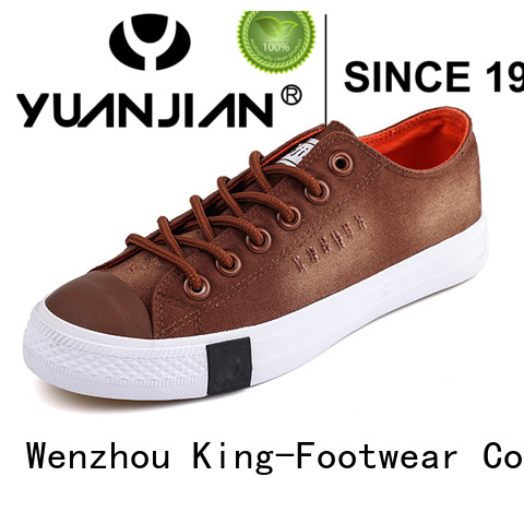 King-Footwear hot sell canvas lace up shoes for womens factory price for daily life