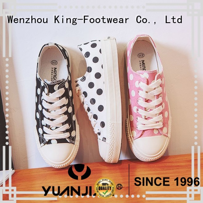 King-Footwear canvas shoes without lace factory price for daily life