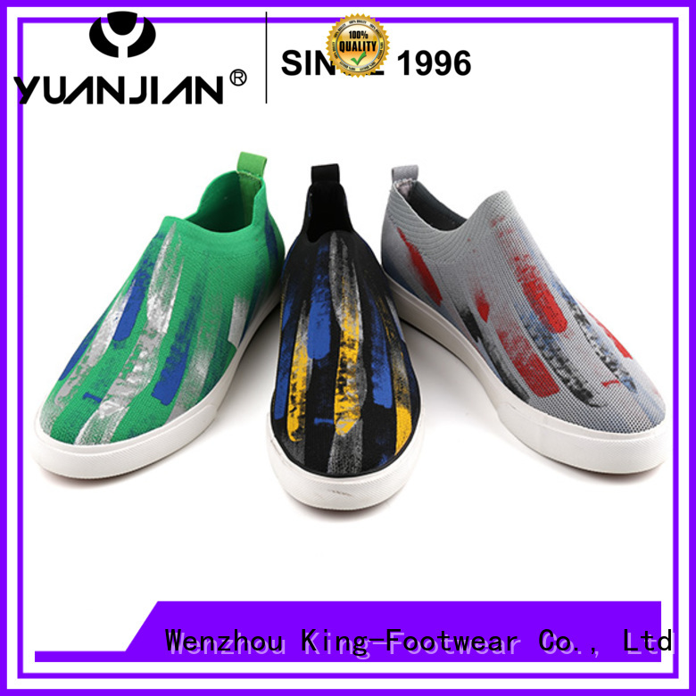 modern slip on skate shoes factory price for schooling