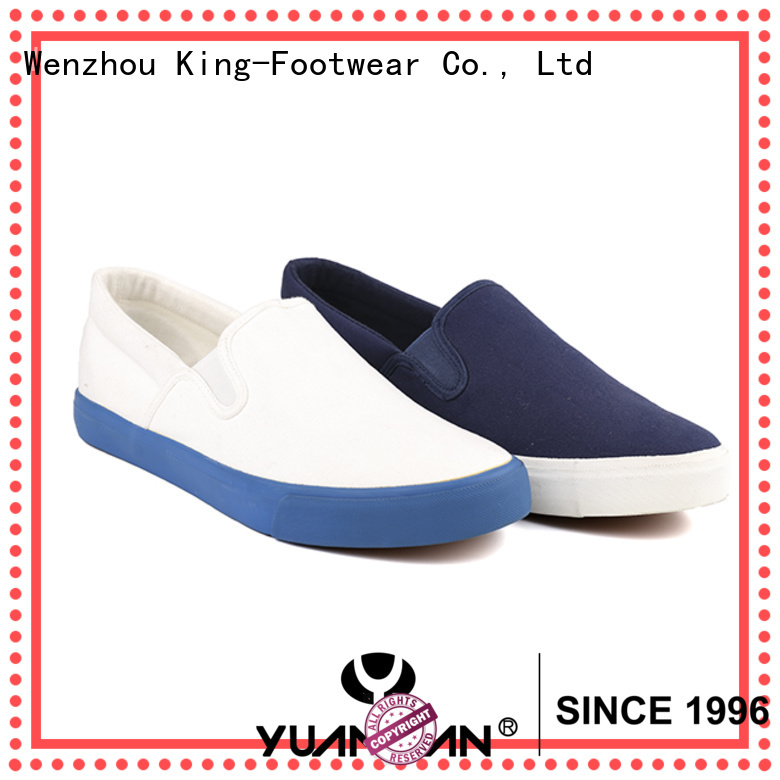 King-Footwear hot sell mens canvas slip on shoes factory price for daily life
