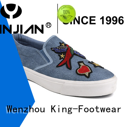 King-Footwear good quality casual canvas shoes womens factory price for school