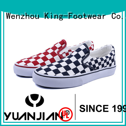 King-Footwear good quality mens canvas slip on shoes promotion for school
