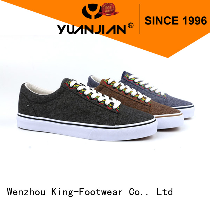 King-Footwear leisure embroidery sneaker supplier for children