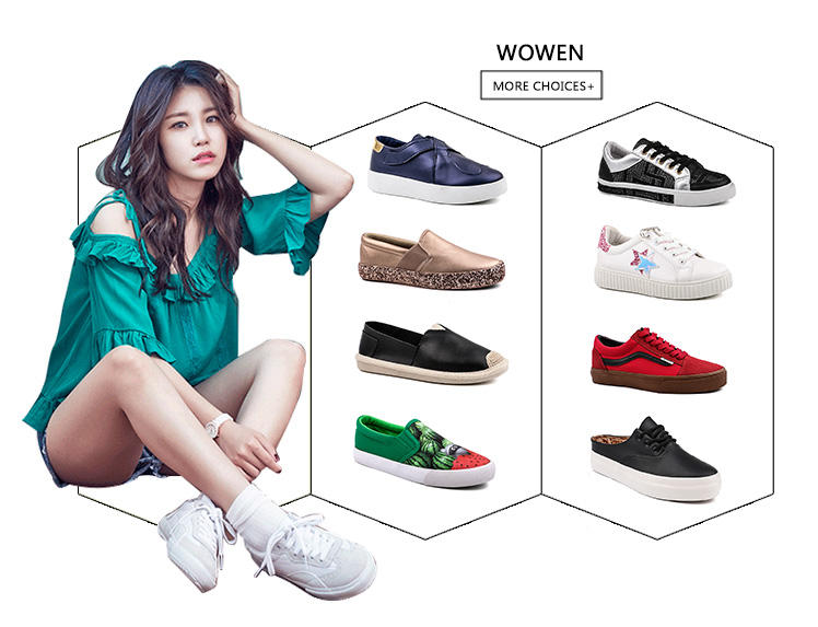 hot sell canvas slip on shoes womens wholesale for school-3