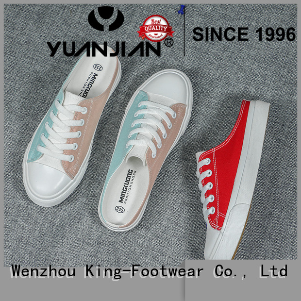 King-Footwear durable mens canvas sneakers manufacturer for school