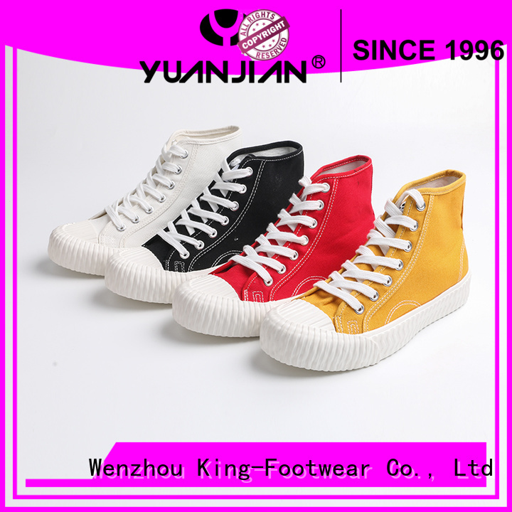 King-Footwear durable latest canvas shoes wholesale for working