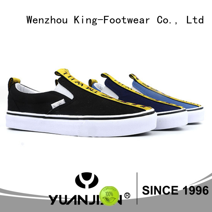 King-Footwear hot sell mens canvas slip on shoes manufacturer for daily life