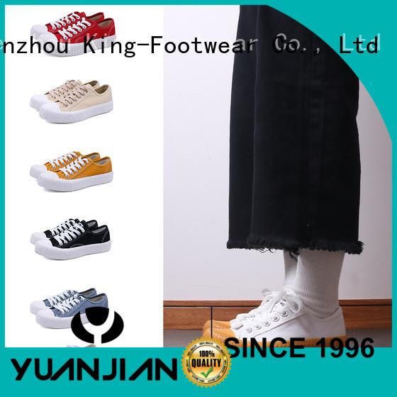 King-Footwear plain canvas shoes wholesale for school