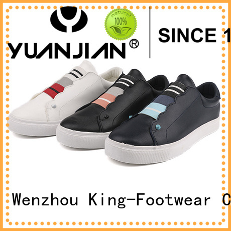 King-Footwear slip on skate shoes factory price for schooling