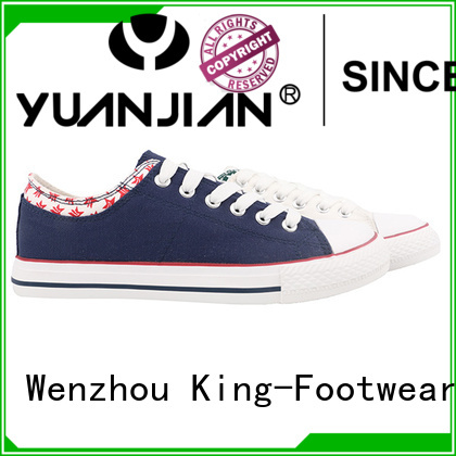 King-Footwear hot sell cheap canvas shoes wholesale for working