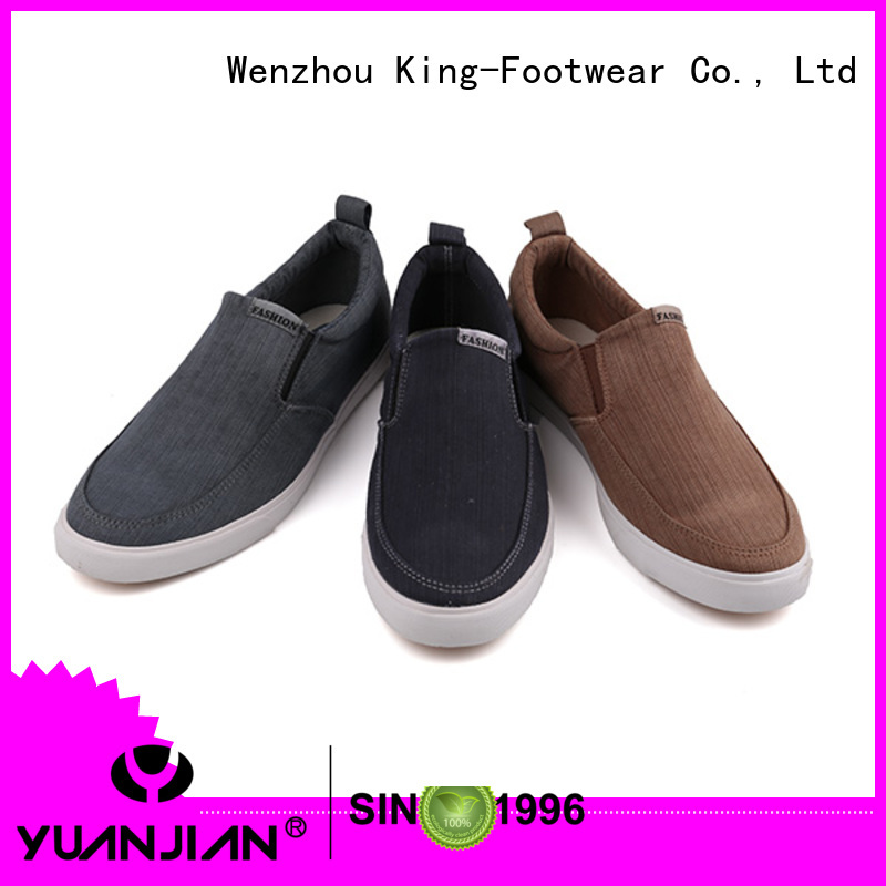 King-Footwear beautiful leather canvas shoes promotion for school