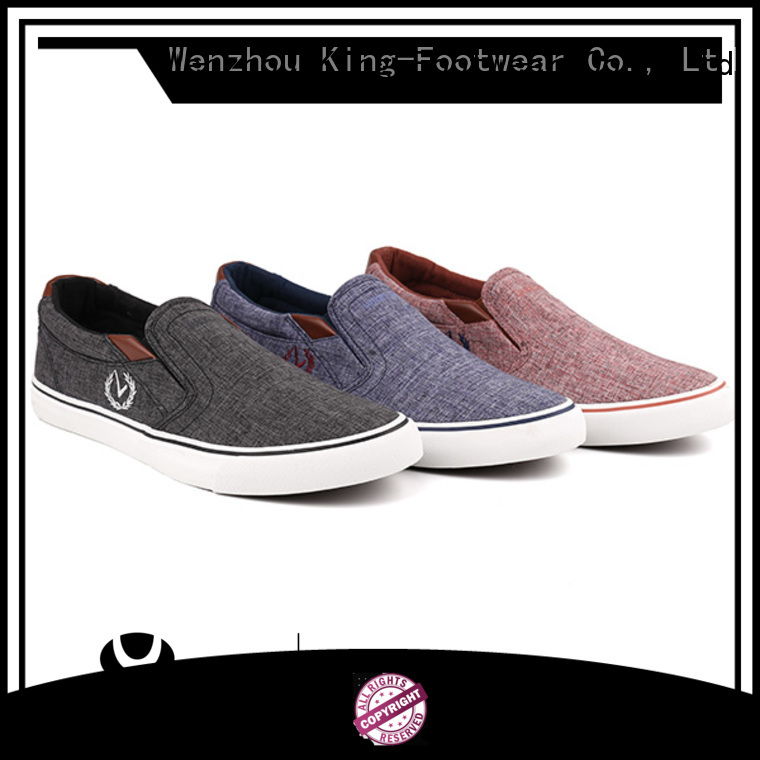 King-Footwear school canvas shoes factory price for travel