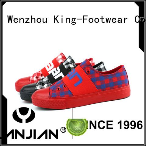 King-Footwear black canvas shoes wholesale for working