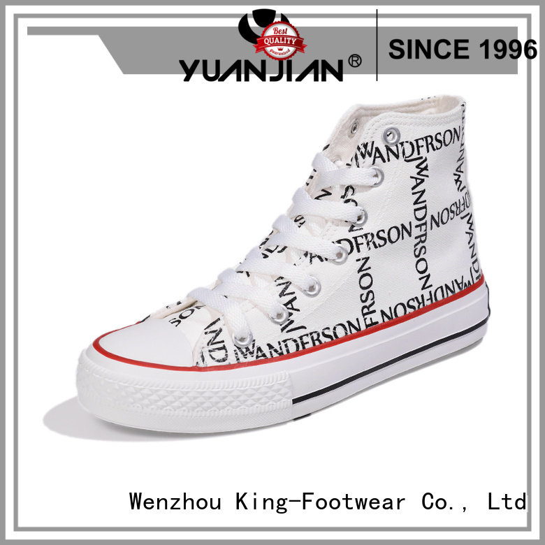 durable latest canvas shoes factory price for working