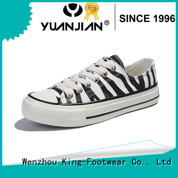 King-Footwear red canvas shoes factory price for travel