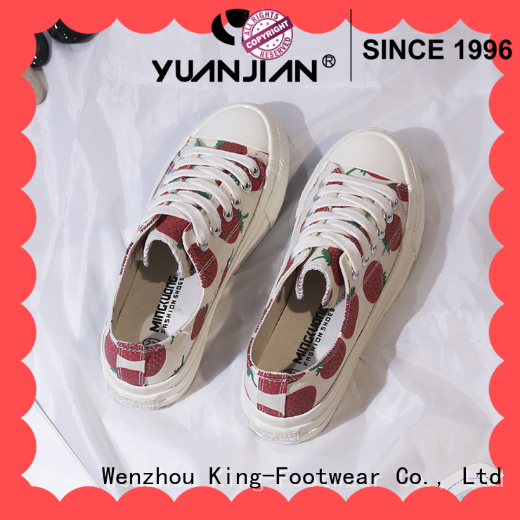 King-Footwear canvas boat shoes factory price for working
