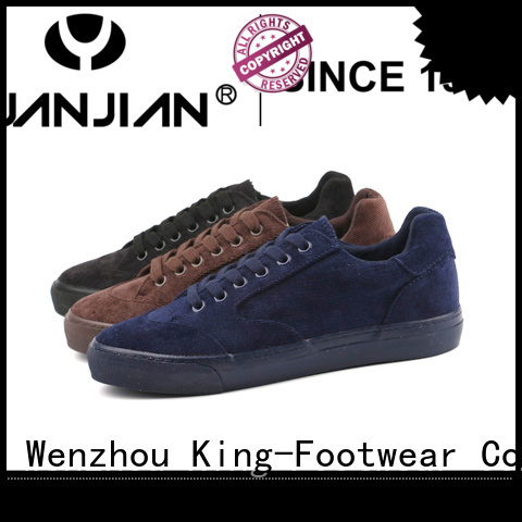 breathable black canvas sneakers supplier for men