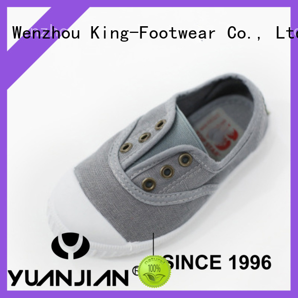 King-Footwear canvas lace up shoes for womens factory price for school