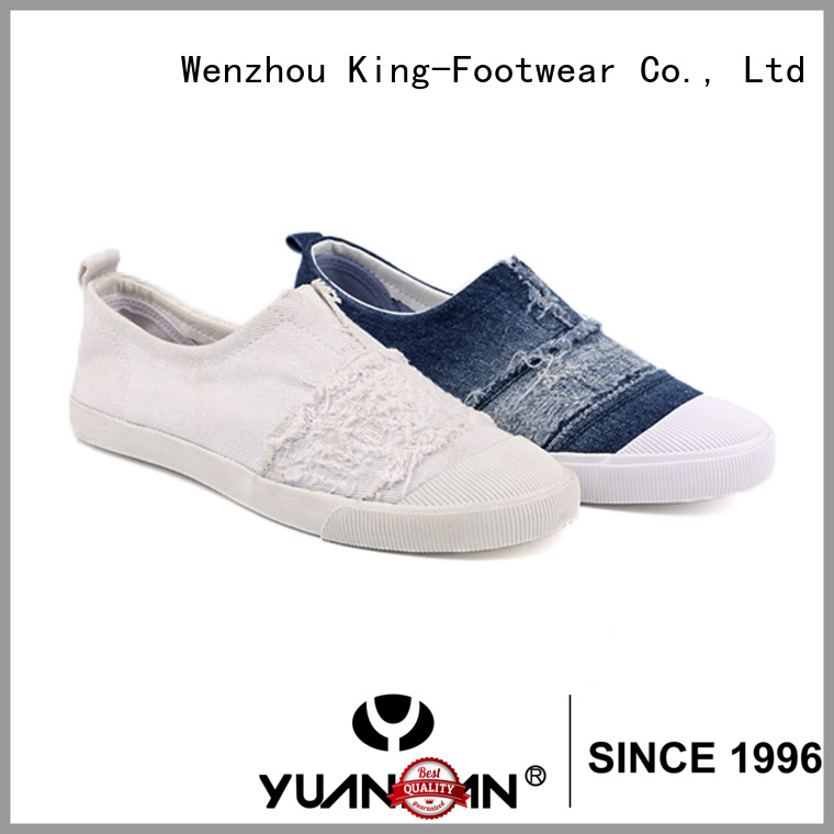 King-Footwear beautiful canvas slip on shoes promotion for travel
