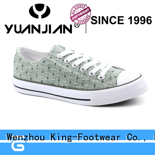 King-Footwear durable cheap canvas shoes promotion for school