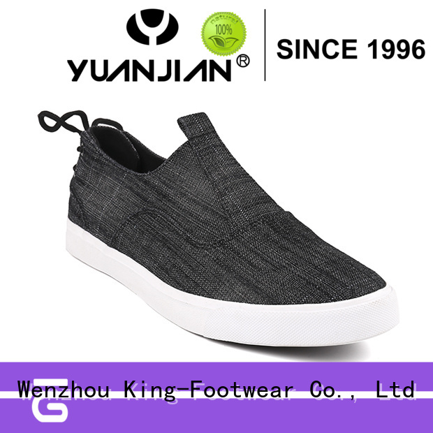 King-Footwear durable formal canvas shoes promotion for working