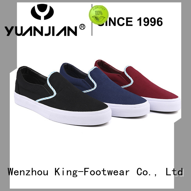 King-Footwear beautiful custom canvas shoes factory price for daily life