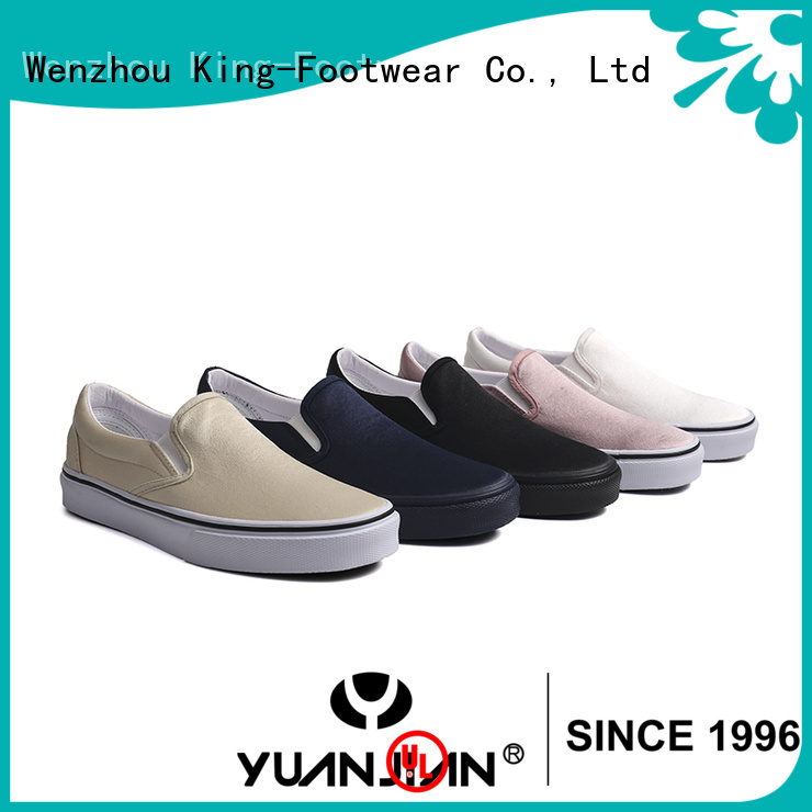 King-Footwear popular vulcanized rubber shoes factory price for schooling