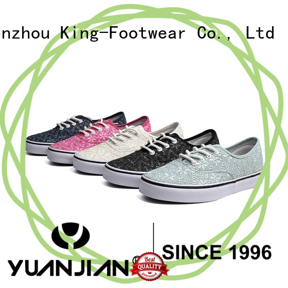 King-Footwear glitter canvas shoes manufacturer for working