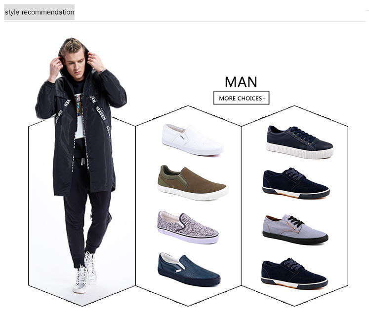 hot sell mens canvas shoes cheap promotion for working-2