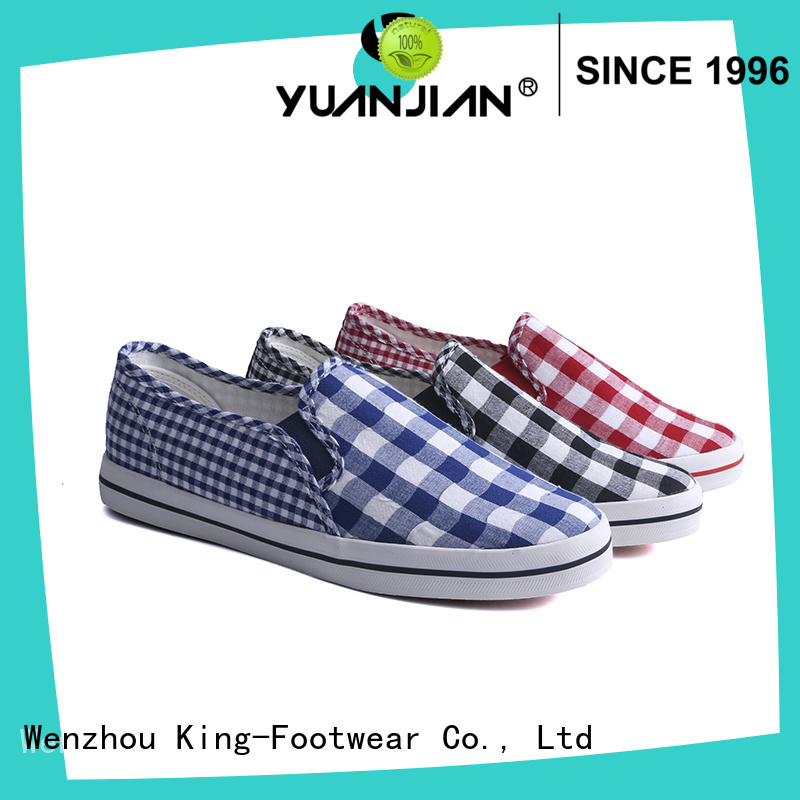 King-Footwear ladies canvas shoes promotion for daily life