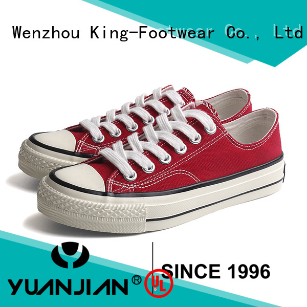 King-Footwear new canvas shoes factory price for school