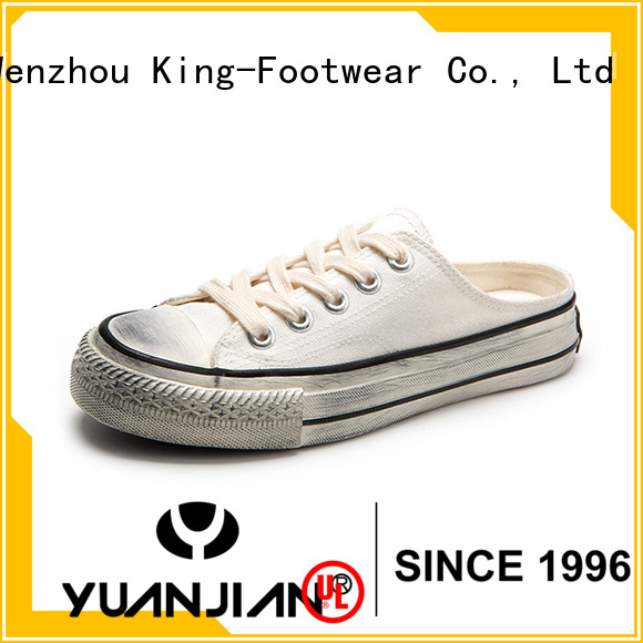 King-Footwear beautiful canvas sneakers womens factory price for working