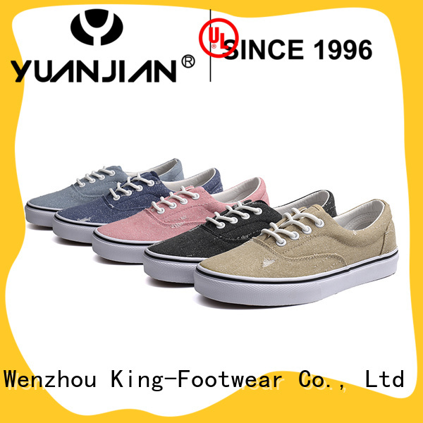 King-Footwear mens canvas slip on shoes wholesale for working