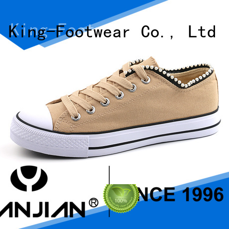 King-Footwear durable ladies canvas shoes promotion for working