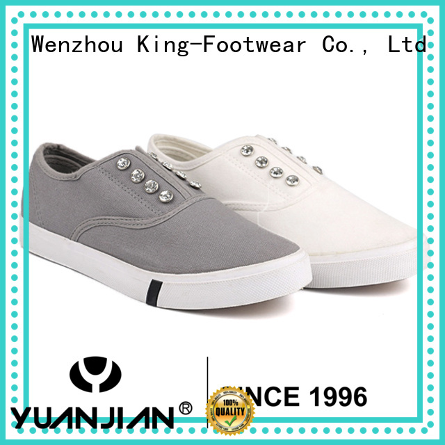 King-Footwear hot sell cheap canvas shoes promotion for travel