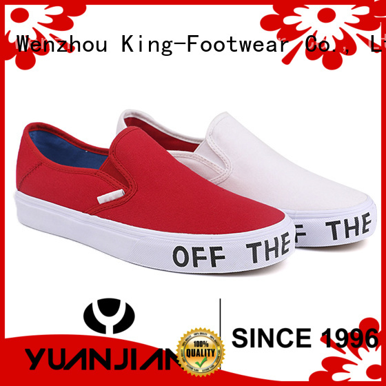 King-Footwear durable new style canvas shoes for school